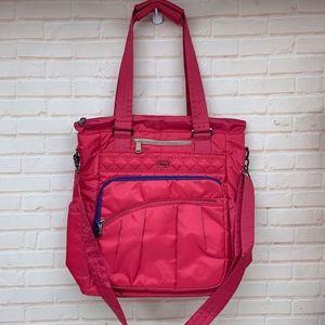 LUG ACE Rose Pink North South Shopper Tote Bag